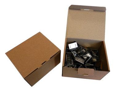 RVS Merkloze Voegklemmen per doos a 100 stuks